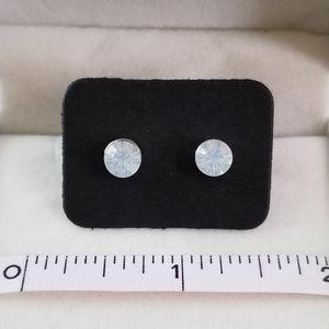 Medium Opal Brilliant Cut Stud Earrings